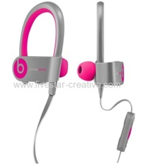 Powerbeats2 by Dr.Dre Wireless Bluetooth Sport Around-Ear Headphones with MIC Gray Pink