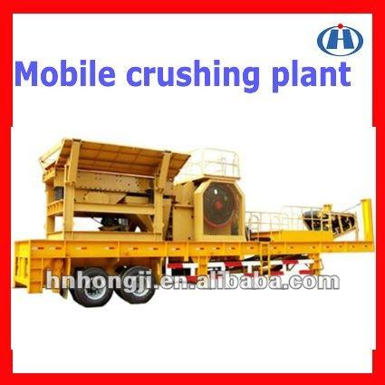Hongji Brand mobile Jaw crusher station for sale