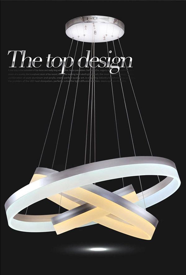 Modern Minimalist Ring Shaped LED Acrylic Pendant Lighting