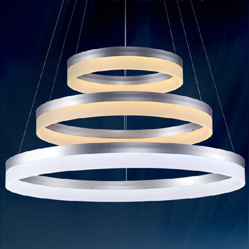 Modern minimalist ring shaped LED acrylic pendant lighting for sale