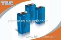 Wide Range of Operating Temperature Li-MnO2 CR 9V 1200mAh Battery