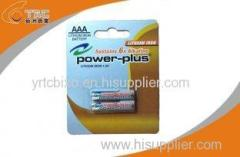 Primary Lithium Iron Battery LiFeS2 1.5V AAA / L92 Power Plus Battery for MID, E-book
