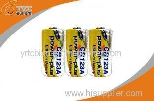 3.0V CR123A 1300mAh Primary Lithium Li-MnO2 Battery High Energy Density