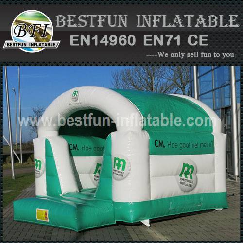 Bounce house with obstacle course