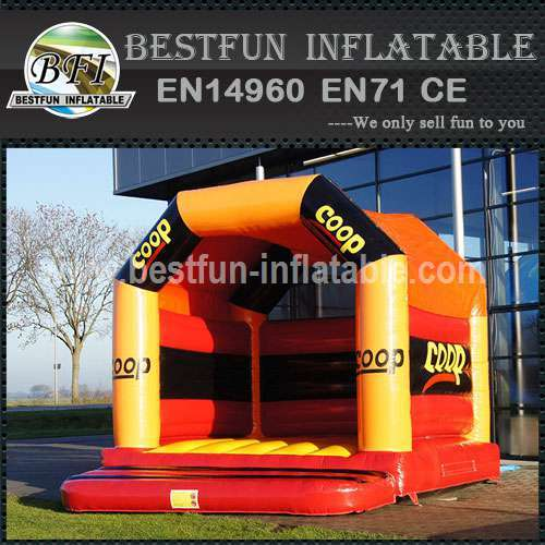 Bounce house with velcro banners