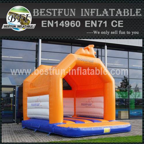 Branded inflatable bounce house