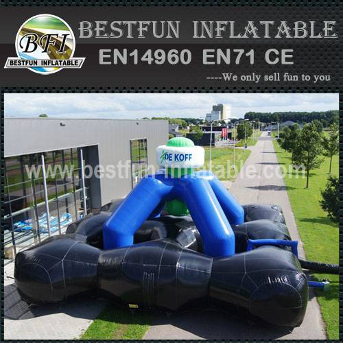 Interactive inflatable labyrinth games