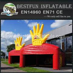 Big inflatable ad tent