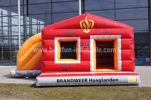 Bouncy castle firefighters measure