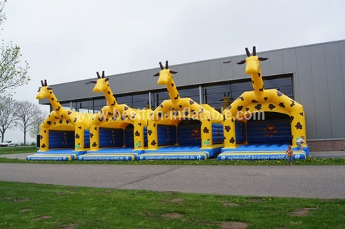 Castle inflatable giraffe custom