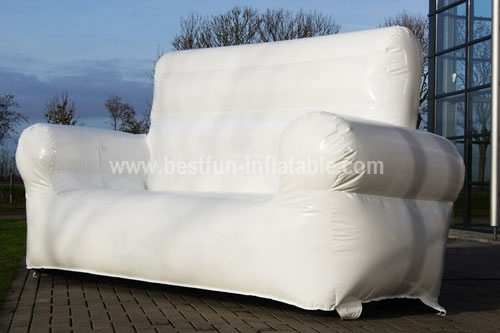 Inflatable blowe White Sofa