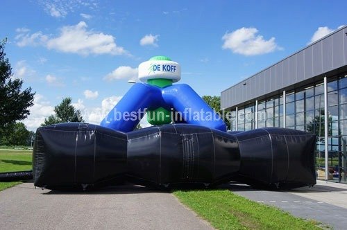 Inflatable dome lasergame measure