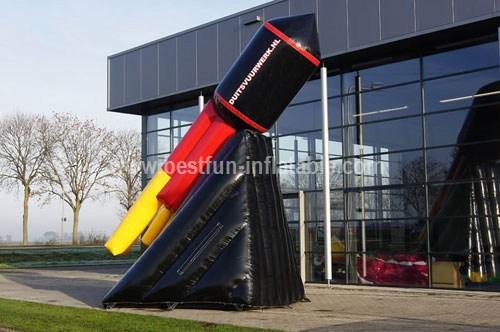 Inflatable rocket measure design