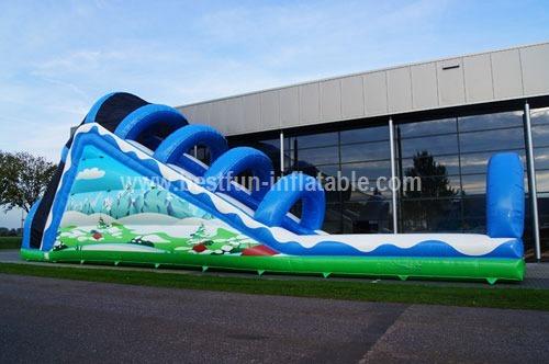 Inflatable toboggan winter custom
