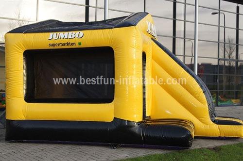 Unique jump inflatable bouncy slide