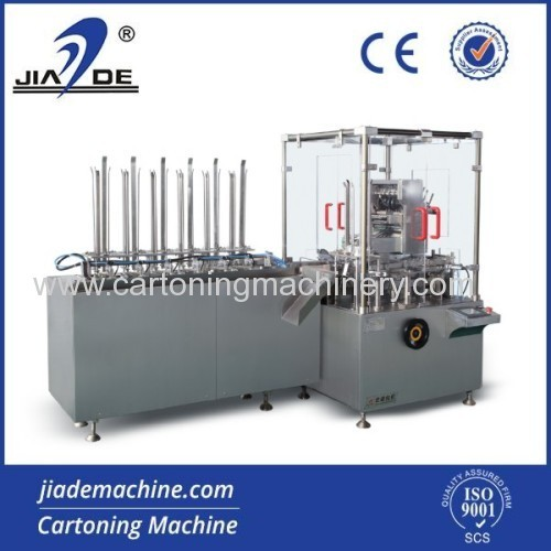 horizontal cartoning machine for sachet/condom