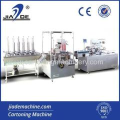Automatic cartoning machine and cellophane wrapping machine