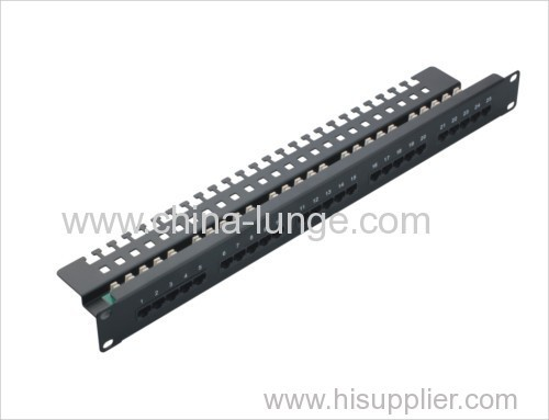 krone cat5e Patch Panel RJ45 UTP 8p8c unshielded 24 ports CE/ROHS/REACH