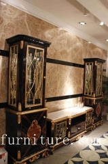 French antique cabinet china cabinet luxury cabinet living room decoration cabinet