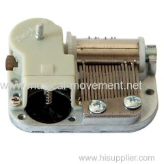 WINDING SHAFT ROTATION OUTPUT 18 NOTE MINIATURE MUSIC BOX MECHANISM