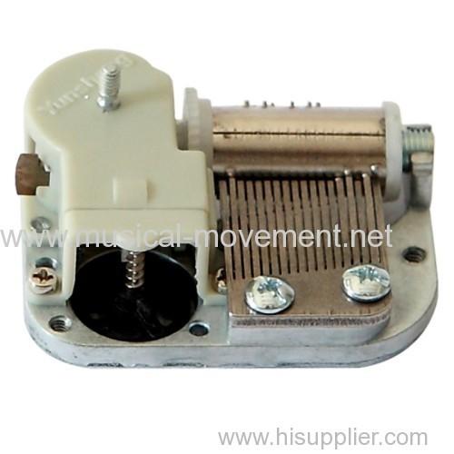 Winding Axle Rotate Output Mini 18 Note Music Box Movement