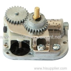 CENTER ROTATING SHAFT WIND UP 18 NOTE MUSIC BOX MECHANISM