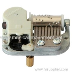 On Off Rotary Switch Mini Clockwork Music Box 18 Note Movements