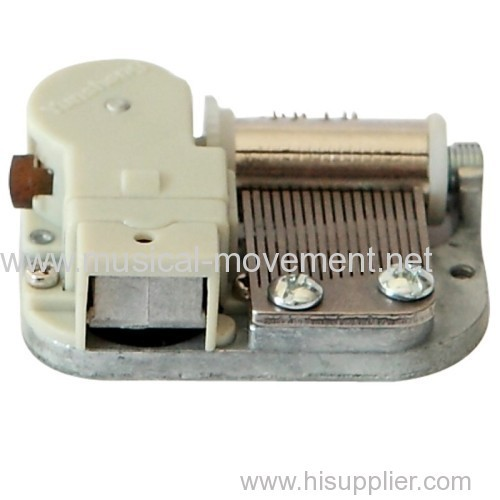 On Off Weight Stopper Mini Clockwork Music Box 18 Note Movements