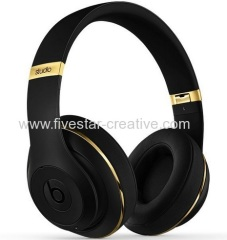 New Beats by Dr.Dre Studio 2 Over-the-Ear Corded Headphones AAA High Quality Limited Edition Gold Black