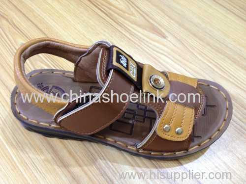 Brown boy summer sandals