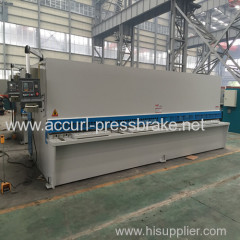 hydraulic swing beam metal works cutting machine