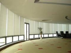 Good 100% Polyester fabric Manual blackout roller blinds online Daylight and Blackout roller blind supplier in China