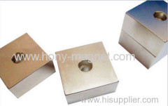 Good performance arc shape neodymium magnet with hole