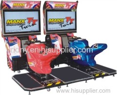 Twin motor racing arcade game