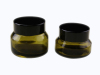 glass cosmetic jar with metal anodized aluminum screw cap for facial cream packaging