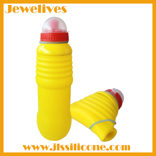 Colorful and special design silicone water bottle