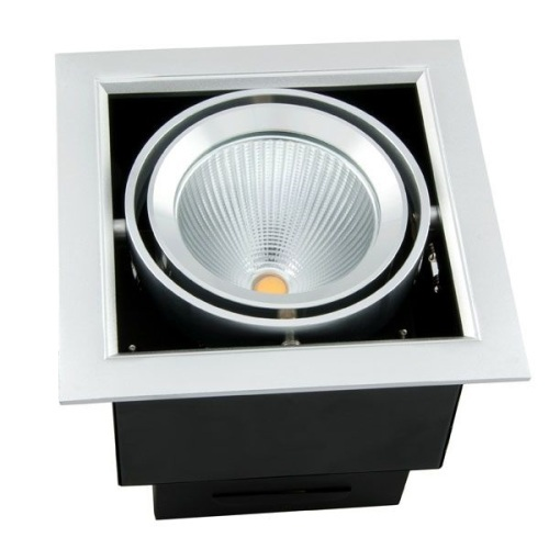 40W COB LED Recessed Grille Downlights Ra80