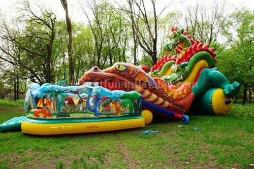 Adult inflatable rental slide