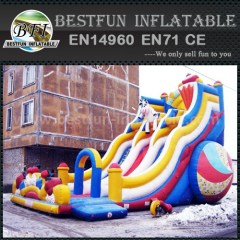 Inflatable car movie slide