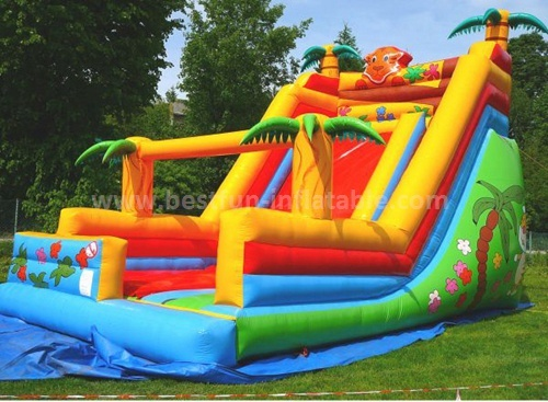 Advertising commercial inflatable slide