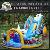 American inflatable bouncer slide combo