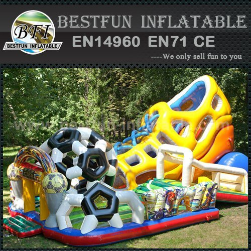 Amazing shape inflatable slide