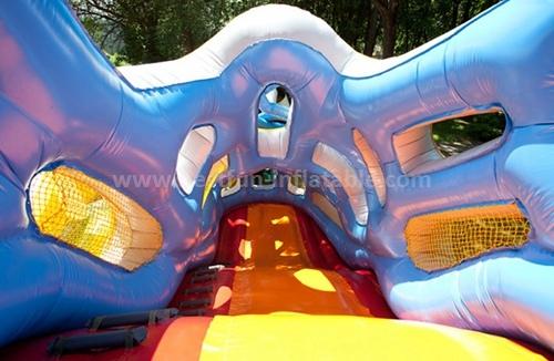 Amusement inflatable dry slide