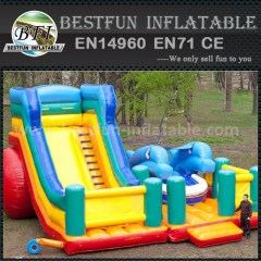 Inflatable sports game slide