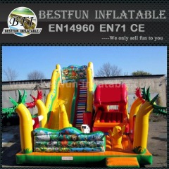 Durable inflatable moonwalk slide