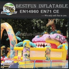 Animal world arch inflatables slide