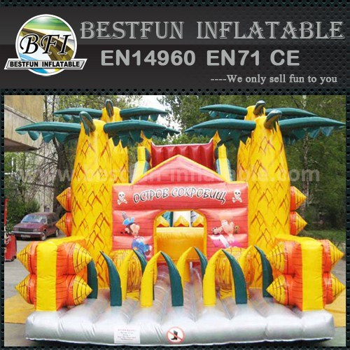 Funny inflatable slider for kids