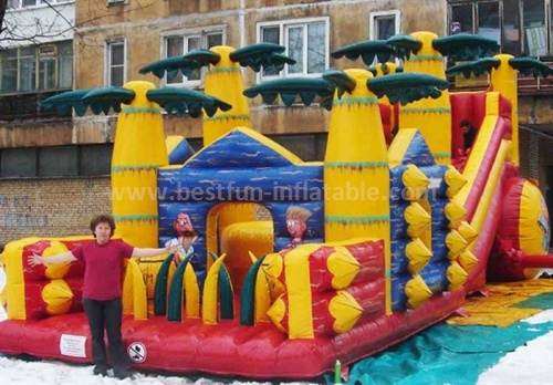 Backyard inflatable slide toys