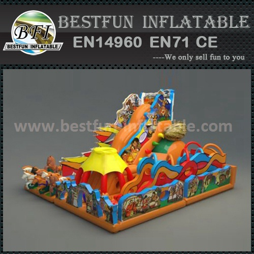 Beach inflatable slide combo