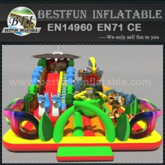 Big inflatable double park slides